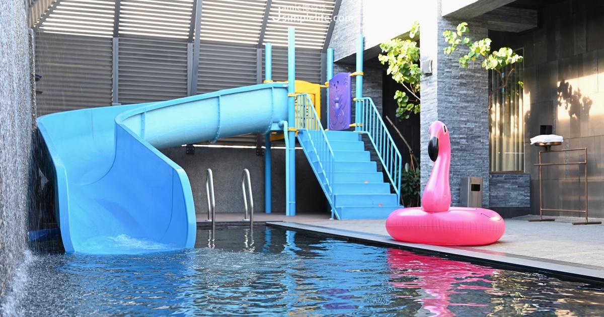 玩水不必人擠人!台中「樂活行館」開門就有泳池滑道、獨享歡唱殿堂